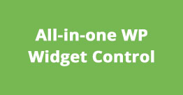 All in One WordPress Widget Control WordPress Plugins Black Friday & Cyber Monday Discount