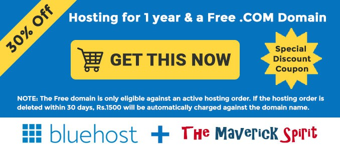 bluehost india discount and offer 2017 the maverick spirit