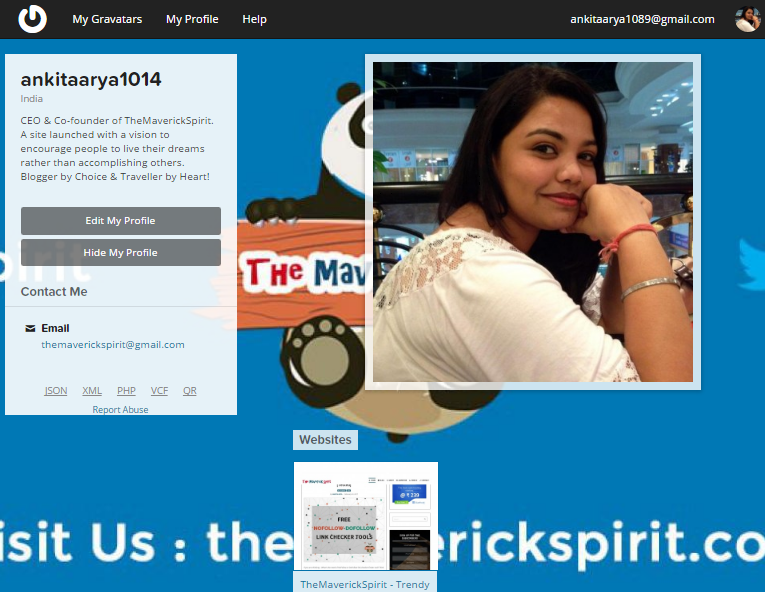 Gravatar Ankita Arya CEO The Maverick Spirit Account