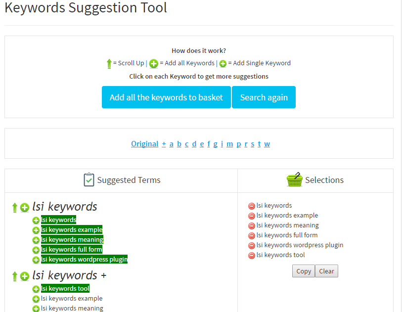 How to use The SEO Keyword Suggestion Tool
