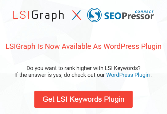 SEOPressor Connect LSI Keyword finder tool