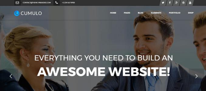 Cumulo HTML Multipurpose WordPress Theme