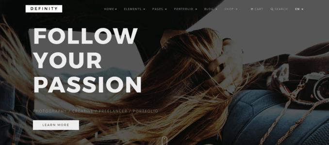 Definity-Modular Design Multipurpose Website Theme