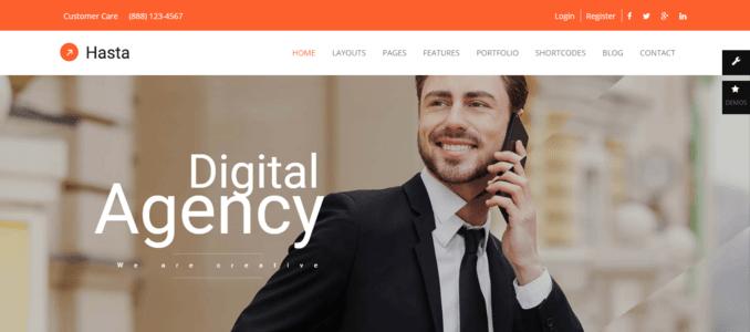 Hasta-Modern & Responsive Multipurpose WordPress Theme