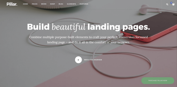 Pillar - Smooth Parallax Website Template