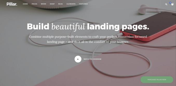 Pillar - Smooth Parallax Website Template