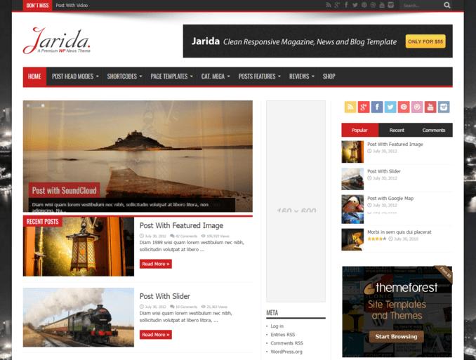 jarida-best-popular-wordpress-blogging-theme