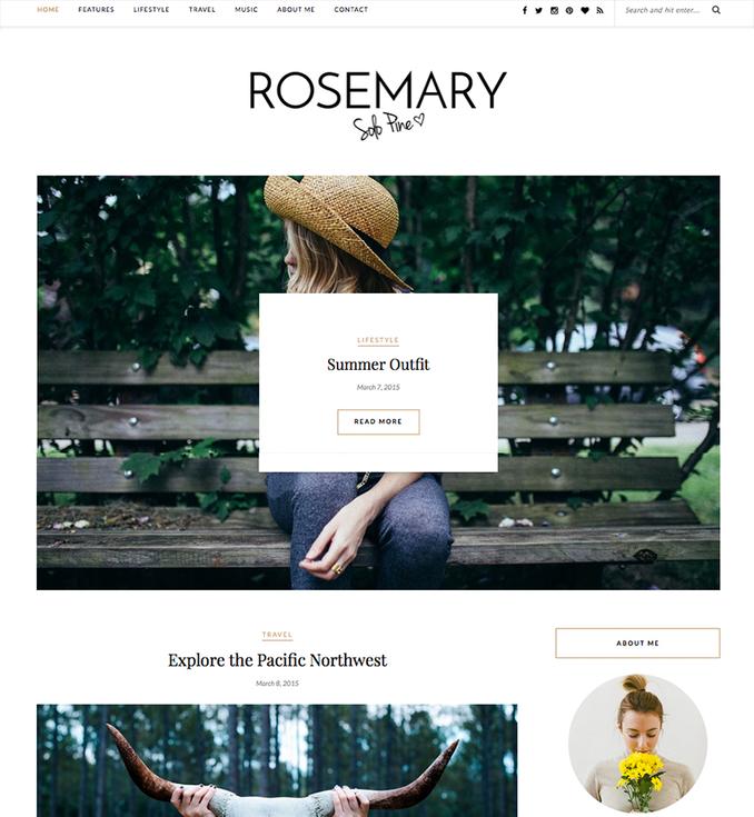 rosemary-responsive-blog-wordpress-template