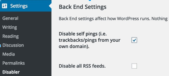Disabler plugin to stop self pinging in WordPress