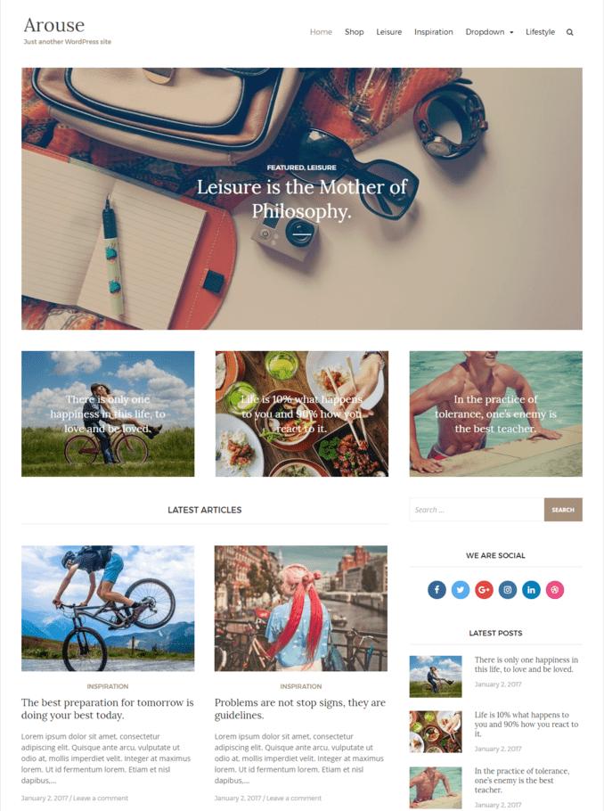 arouse-free-lifestyle-personal-blog-wordpress-theme