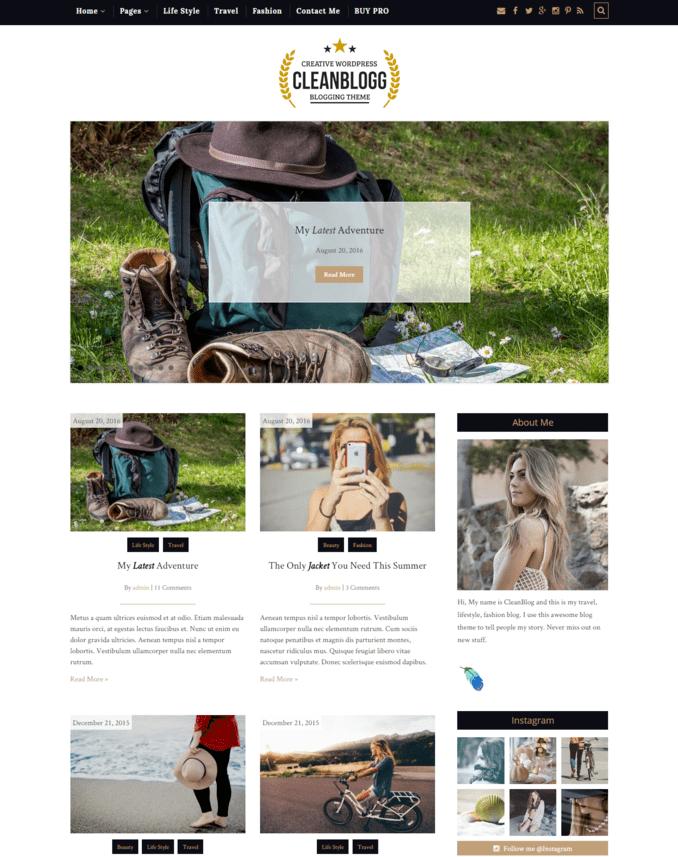 cleanblog-best-Creative-Lifestyle-wordpress-Blog-Theme