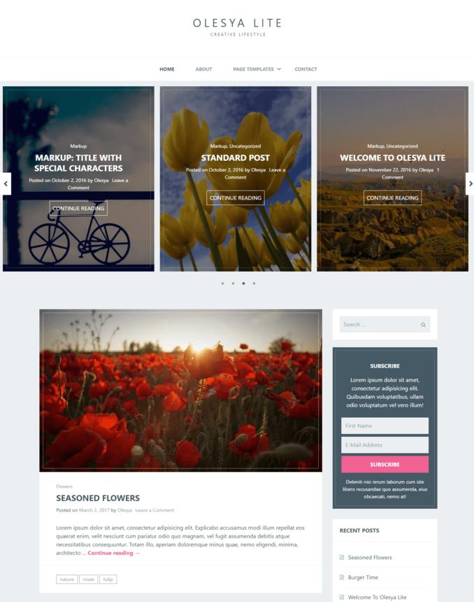 olesya-lite-food-lifestyle-blog-wordpress-theme