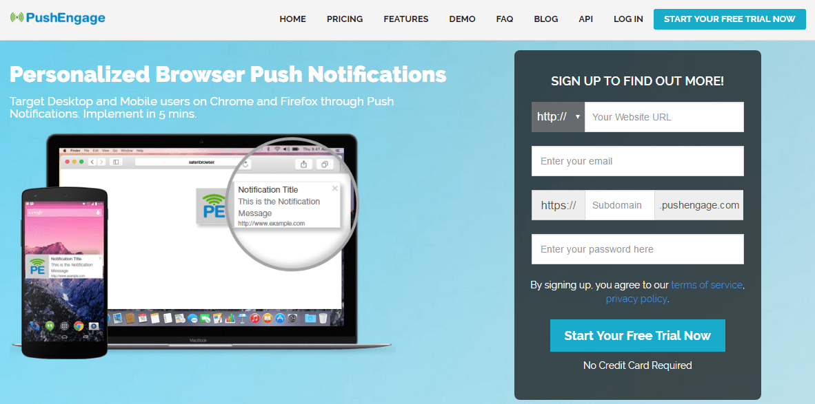 Pushengage-Chrome-and-firefox-free-web-push-notifications-service
