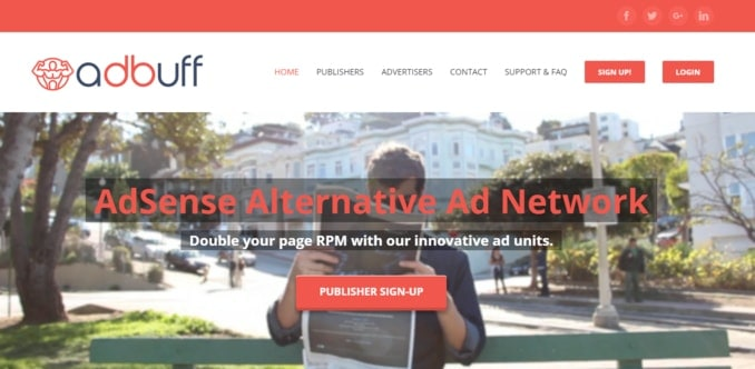 AdBuff-top CPM based AdSense alternative ad network
