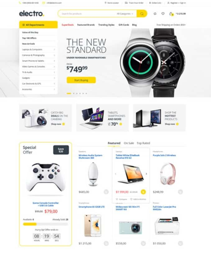 Electro Electronics amazon Store WooCommerce Theme