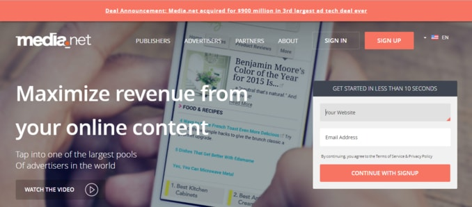 Media-net-adsense-alternative