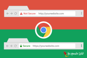 Google Chrome browser will mark non-HTTPS sites as -not secure