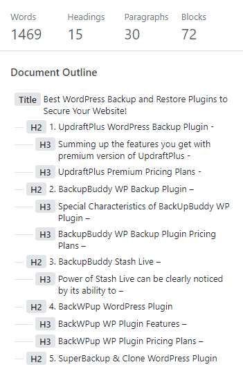 content-structure-gutenberg-wordpress-editor