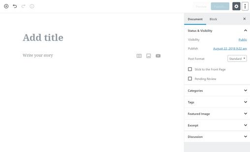 wordpress-gutenberg-block-based-editor