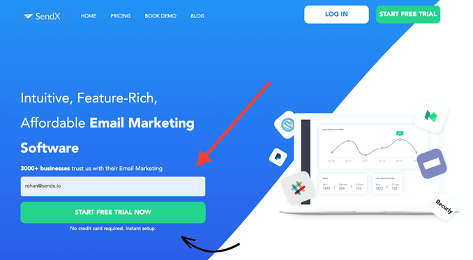 sendx-affordable-email-marketing-dashboard