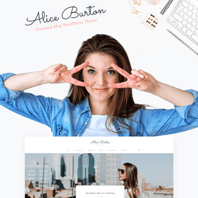 aliceburton-personal-blog-elementor-wordpress-theme