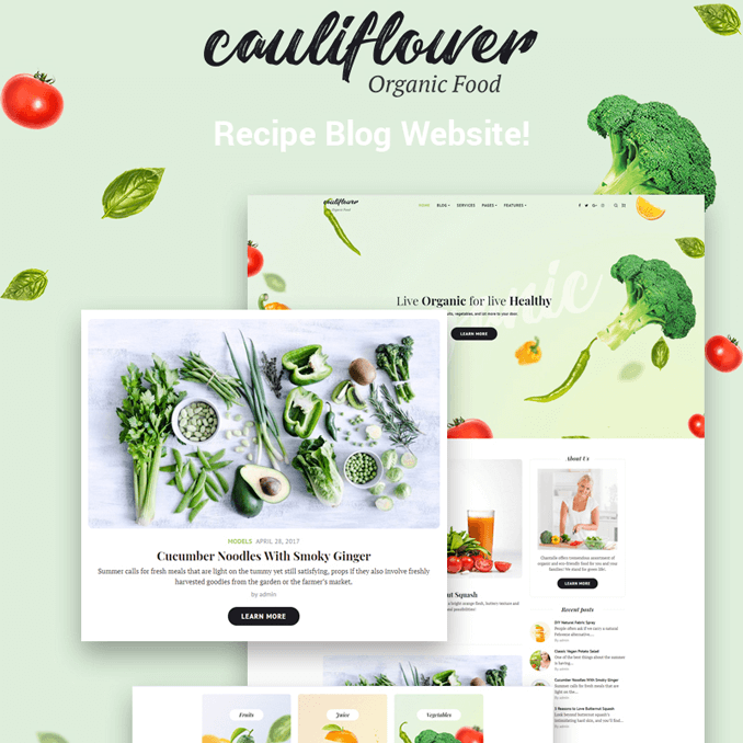 cauliflower-organic-food-blog-elementor-wordpress-theme