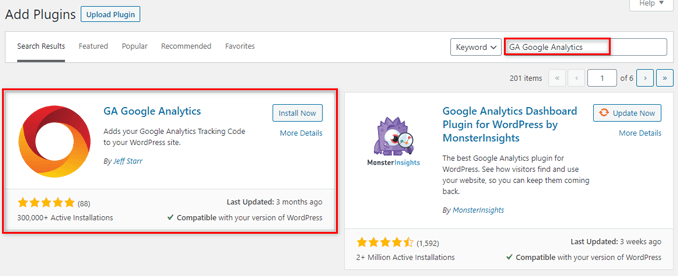 install-ga-google-analytics-wordpress-plugin