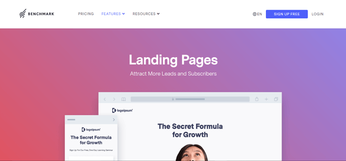 benchmark-email-best-drag-and-drop-landing-page-builder