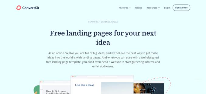convertkit-free-landing-page-creator