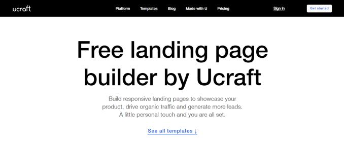 ucraft-wordpress-free-landing-page-builder