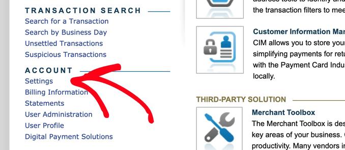 open-authorize-net-account-settings